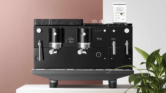 Una Máquina De Café Del Futuro