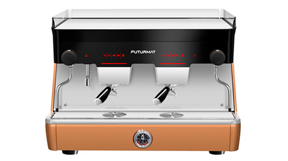 Una Máquina De Café Espresso De Diseño Disruptivo