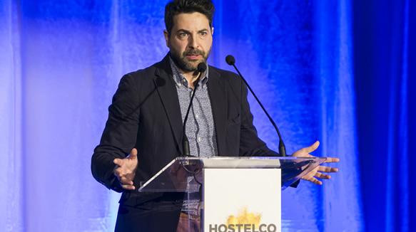 Iván Cotado en la gala de los Premios Hostelco