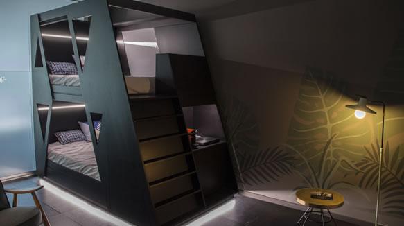 Habitación Diseñada Para Un Hostel