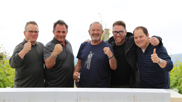 De Izquierda A Derecha: Los Chefs Paul Kahan, Josiah Citrin, Karlos Arguiñano, Ilan Hall Y Enrique Fleischmann