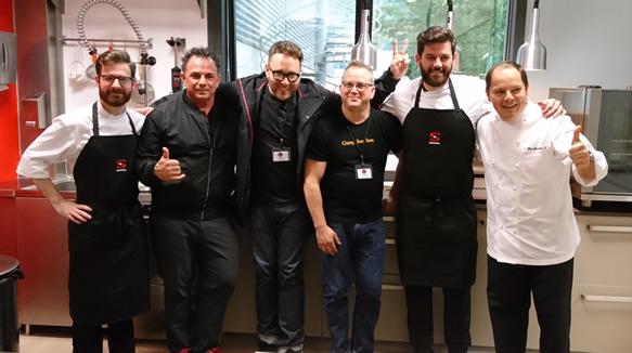 Los Tres Chefs Norteamericanos Con Enrique Fleischmann