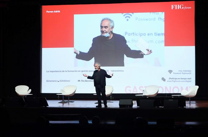 Ferran Adrià en el Fórum FHG